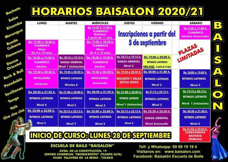 HORARIOS CURSO 2020-21